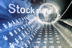 Economical Stock market graph Stock Images