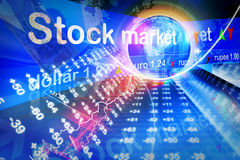 Economical Stock market graph Royalty Free Stock Photos