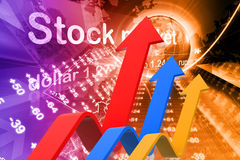 Economical Stock market graph Royalty Free Stock Photography