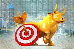 Economical Stock market graph Royalty Free Stock Photo
