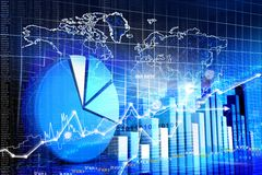 Economical stock market graph Royalty Free Stock Photo