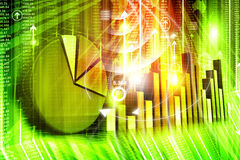 Economical stock market graph Stock Photography