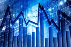 Economical stock market graph Royalty Free Stock Image