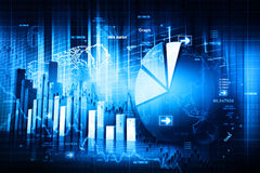 Economical stock market graph Stock Image