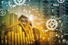 Economical stock market graph Stock Images