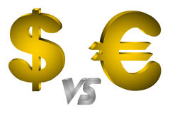Economics. Figure of symbols of the dollar and euro Royalty Free Stock Photography