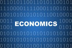 Economics Abstract Background. Economics School Course Series Class Abstract Background Royalty Free Stock Photo
