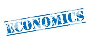 Economics blue stamp. Isolated on white background Royalty Free Stock Image