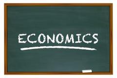 Economics Chalk Board Economy Budgeting Finance Word Stock Images