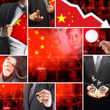 Economics crisis of china Stock Photo