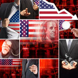 Economics crisis of usa Stock Photography