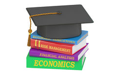 Economics Education concept, 3D rendering. On white background Stock Photo