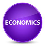 Economics elegant purple round button Stock Photo
