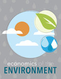 Economics of the environment. Economics of the enviroment newsletter poster for business or nonprofit Royalty Free Stock Photo