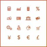 Economics and finance. High quality icon set. Economics and finance Stock Photo