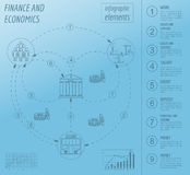 Economics and finance infographic. Investment projects. Banks. E Stock Photos