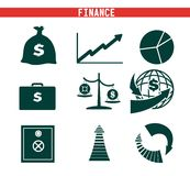 Economics and Finance. Vector black icon on white background Stock Image