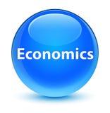 Economics glassy cyan blue round button Stock Photo