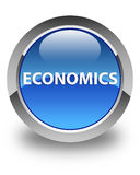 Economics glossy blue round button Stock Images