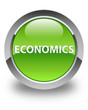 Economics glossy green round button Royalty Free Stock Photography