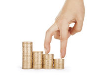 Economics growth concept - profit goes up. Stock Photo