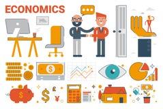 Economics infographic elements and icons Stock Photo