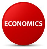 Economics red round button Stock Photography
