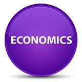 Economics special purple round button Stock Photography