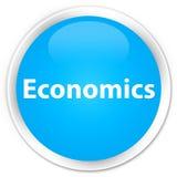 Economics premium cyan blue round button Stock Images