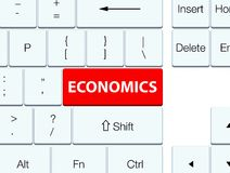 Economics red keyboard button Royalty Free Stock Images