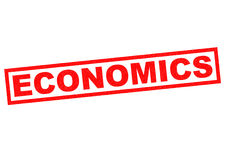 ECONOMICS. Red rubber Stamp over a white background Stock Image
