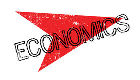 Economics rubber stamp Stock Photography
