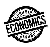 Economics rubber stamp Royalty Free Stock Images