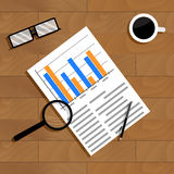 Economics and statistics. Monitoring and management, analytic market, vector illustration Royalty Free Stock Photos