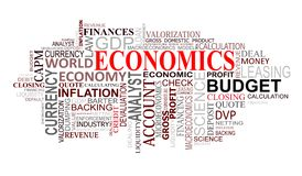 Economics tags cloud Royalty Free Stock Image