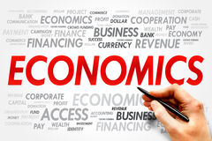 Economics. Word cloud, business concept royalty free stock photography