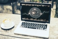 Economie en cyberspace concept royalty-vrije stock foto
