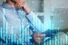 Economie, financiën en toekomstig concept royalty-vrije stock fotografie