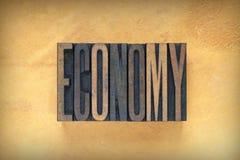Economieletterzetsel royalty-vrije stock foto's