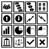 Economiepictogrammen Royalty-vrije Stock Foto