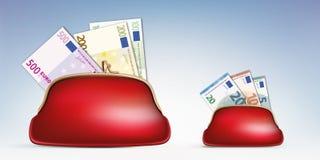 Economisch crisissymbool met dollarrekening het vlammen vector illustratie