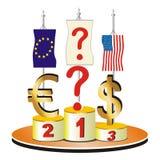 Economisch en financieel crisisthema. royalty-vrije illustratie