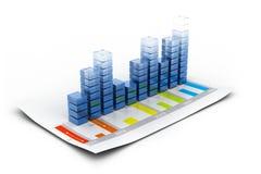 Economische bedrijfsgrafiek Stock Fotografie
