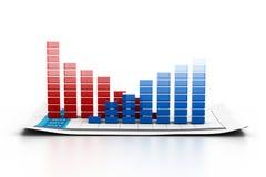Economische bedrijfsgrafiek Stock Foto