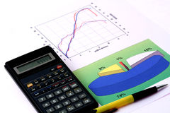 Economische berekening Stock Foto