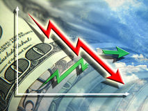 Economische crisis Stock Foto's
