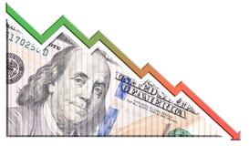 Economische Crisisgrafiek Royalty-vrije Stock Afbeeldingen