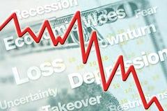 Economische Daling Stock Foto's