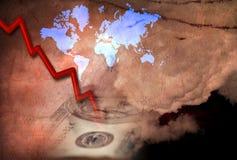 Economische daling Stock Afbeelding