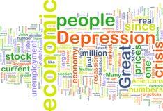 Economische depressie wordcloud Stock Afbeelding